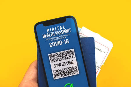 QRCode smartphone covid