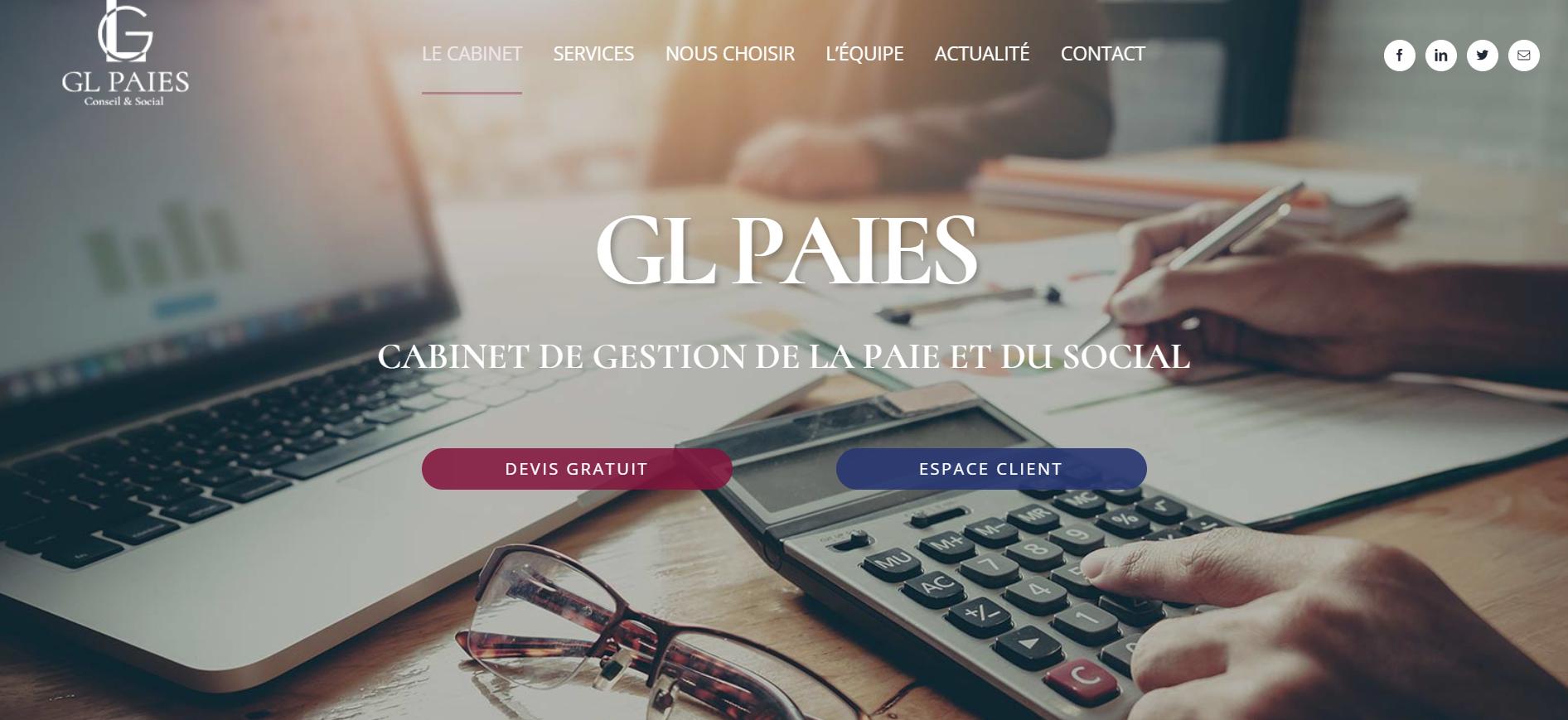 Site internet gl paies